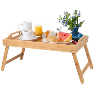Foldable Bamboo breakfast serving tray bed table laptop bed tray
