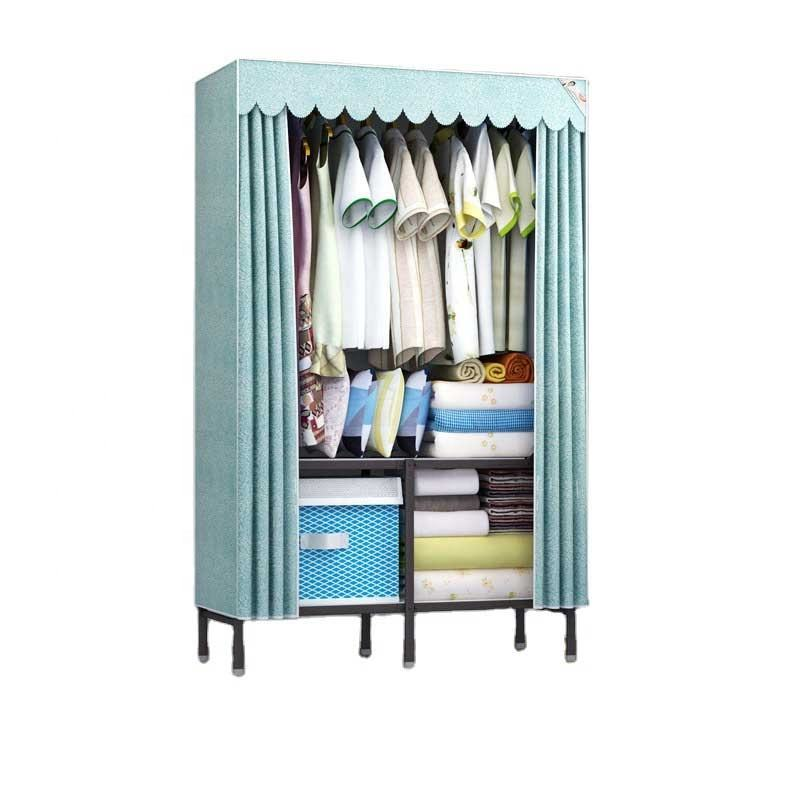 Easy assemble portable closet foldable fabric wardrobe used in home storage