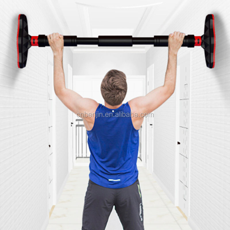 Gym equipment fitness exercises adjustable gym bar door pull up bar