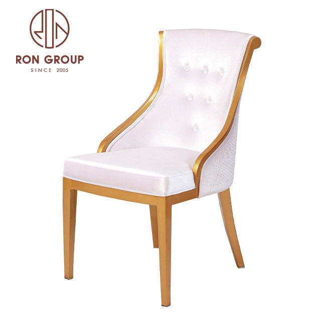 wholesale stackable wear resistant aluminum frame luxury wedding chairs