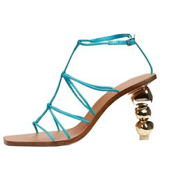 Strappy High-Heeled Sandals 2021Fashion New Aliens Heel Shallow  Dressing Shoes Ready Stock