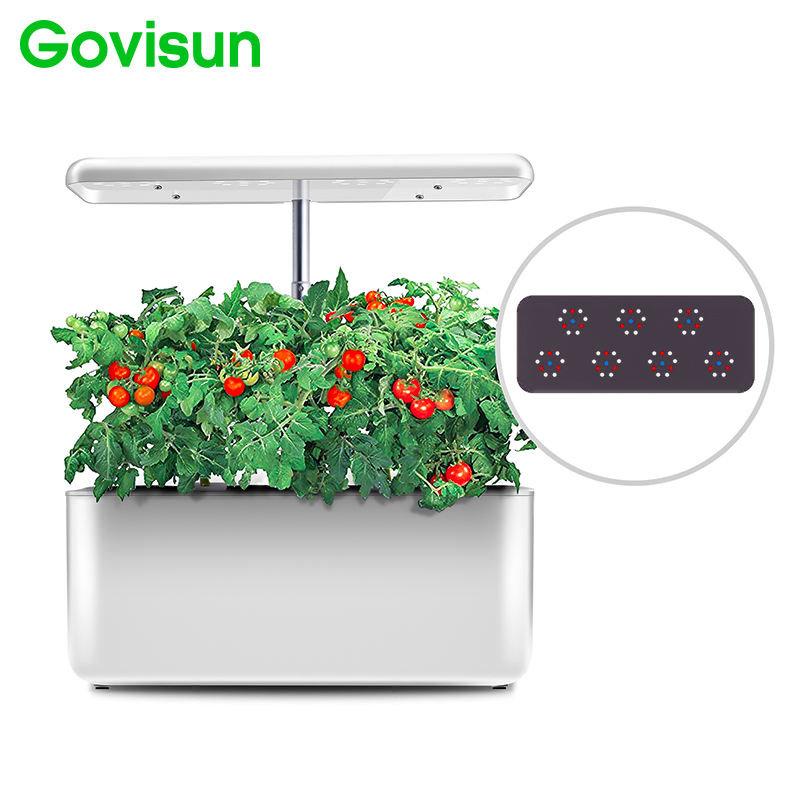 Govisun popular high efficiency 15w full-automatic flowerpots mini hydroponic home garden