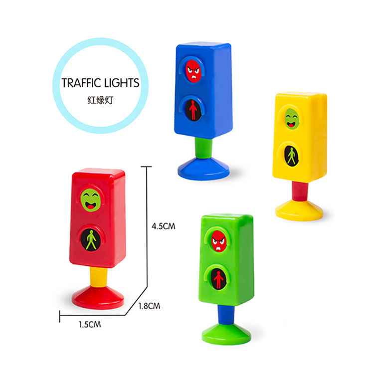 Cheap price promotional puzzle small mini toys traffic light for snacks of DIY surprise toys for egg
