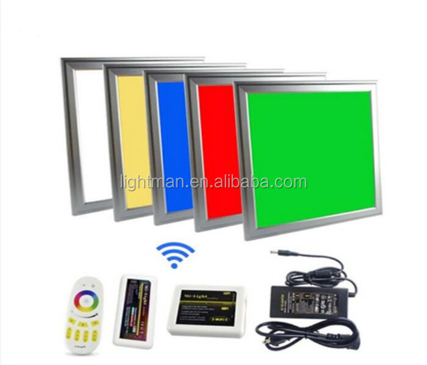 24v 36w 600x600 wireless wifi dmx512 multi color rgb led surface panel light 60x60