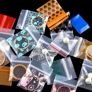 Color printing mini card ziplock PE plastic bag