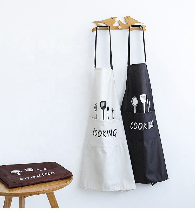 Factory Wholesale Promotional Simple And Stylish Cotton Canvas Kitchen Apron