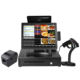 Machine Point Sale System 2 Screen Fingerprint Optional Built-in Wifi Terminal Cash Register All One Pos Systems