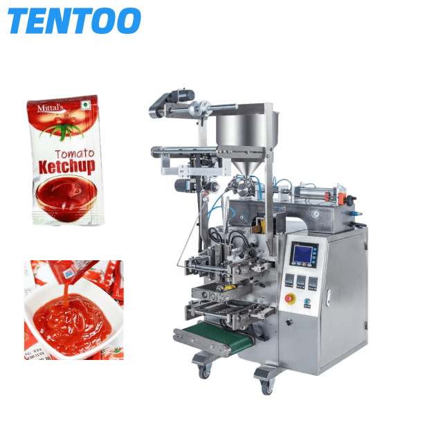 Automatic soy sauce pouch packing machine chill sauce tomato sauce sachet packing machine