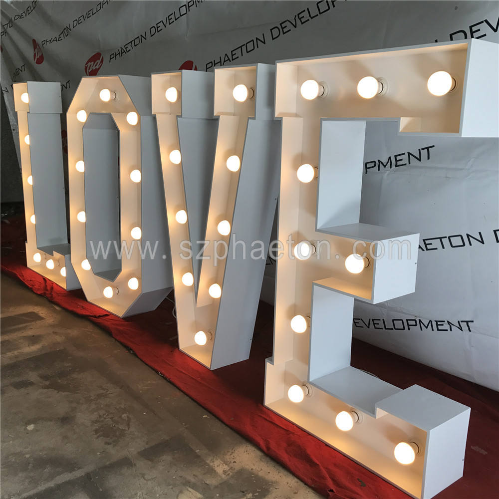 LED marquee letters LOVE letters 4ft for wedding decoration & supplies