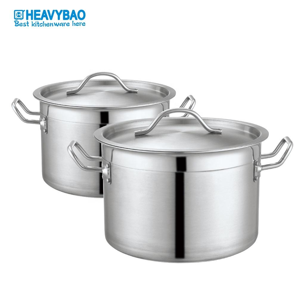 Heavybao Professional Commercial Cooking Pot Wholesale Stainless Steel Soup Pot&Stock Pot With Lid