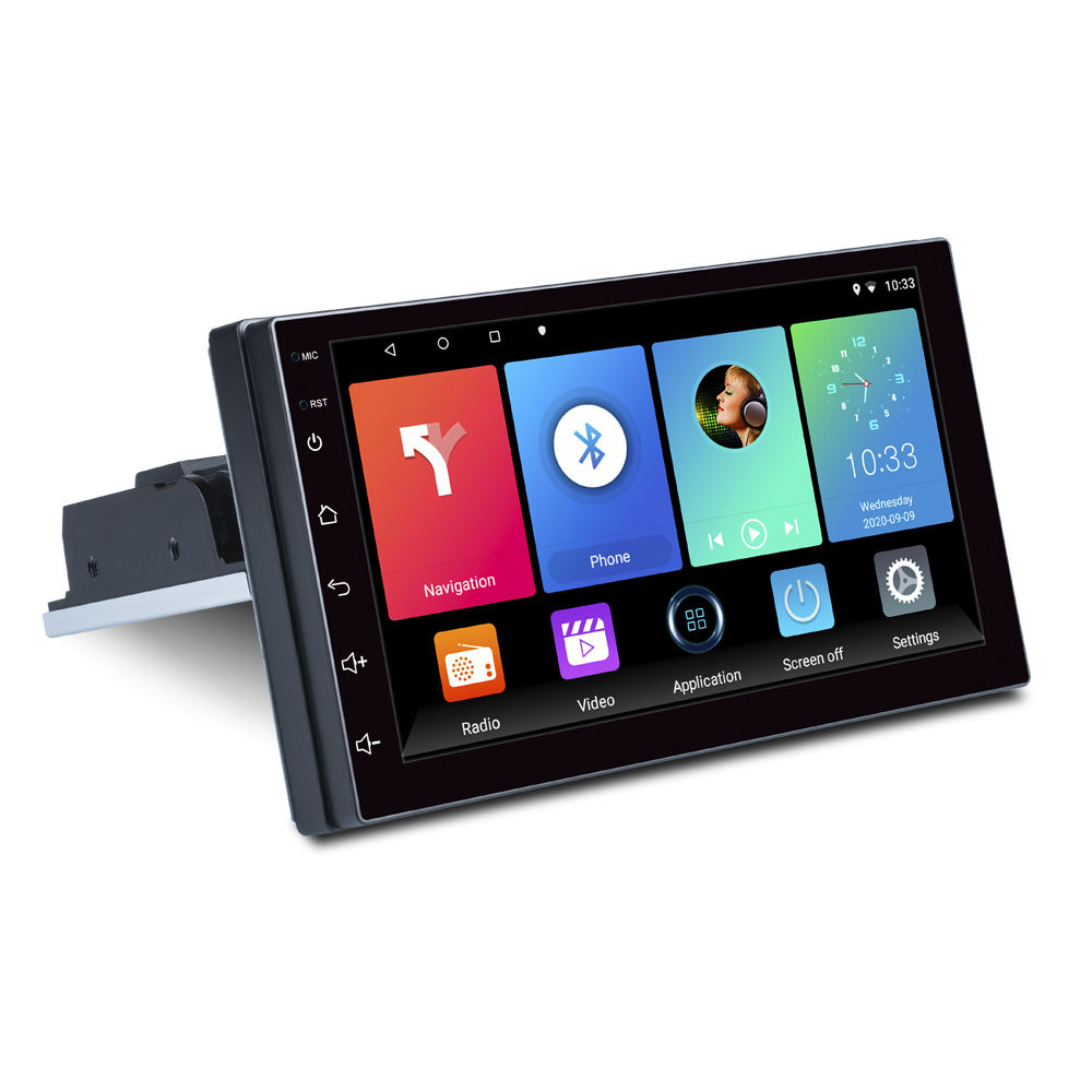 Neuankömmling Android Auto DVD-Player Spiegel Link/Bluetooth/FM/Navigation & GPS 1 Din Auto Stereo