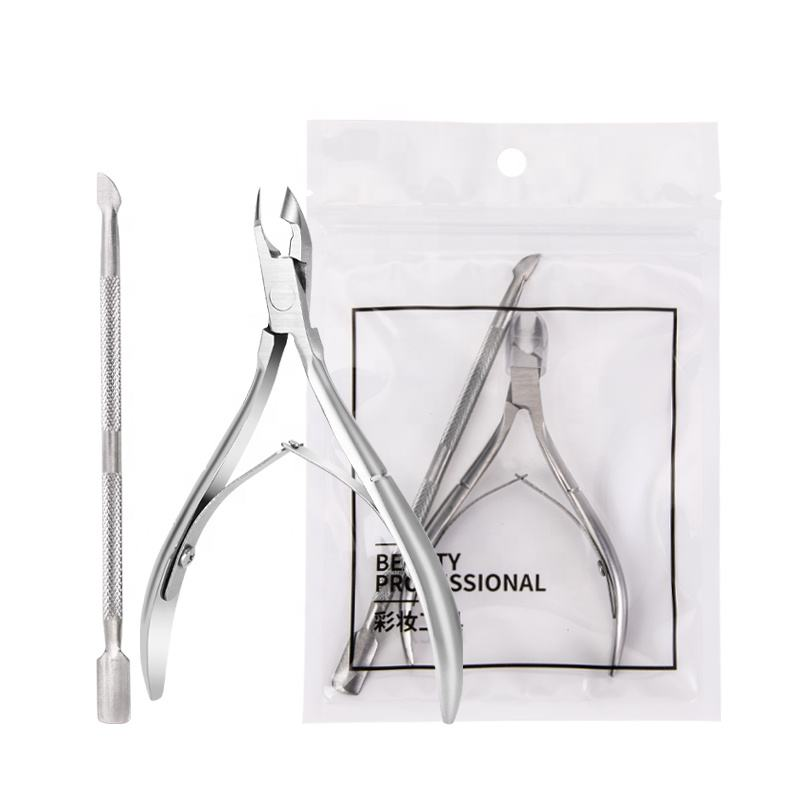 Fast Shipment Professional Manicure Set Stainless Steel Nail Cuticle Nipper with pusher