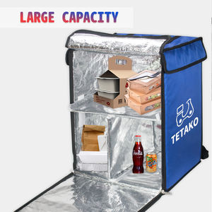 Large Capacity Stitching Color Commercial Cooler Backpack Insulated Food Delivery Thermal Bags