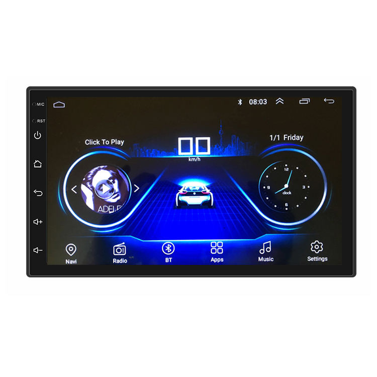 7 inch car Gps mp5 dvd player with bluetooth