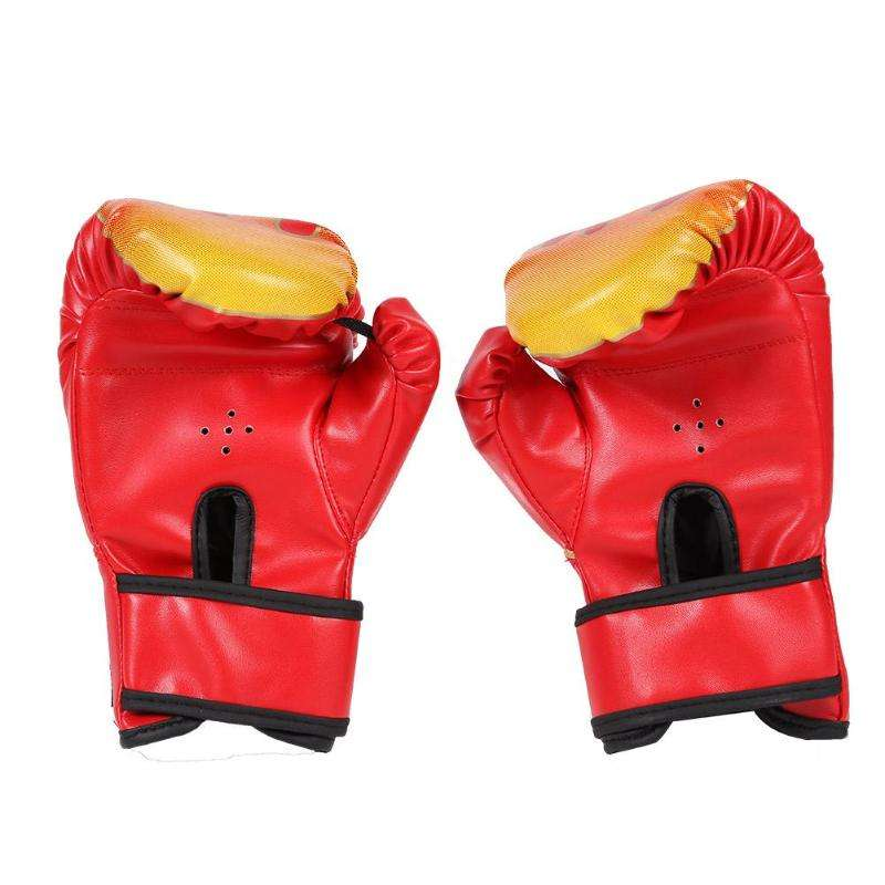 Cowhide Leather Logo Boxing Gloves