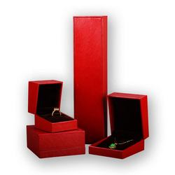 Top Grade Red Color Faux PU Leather Jewelry Box