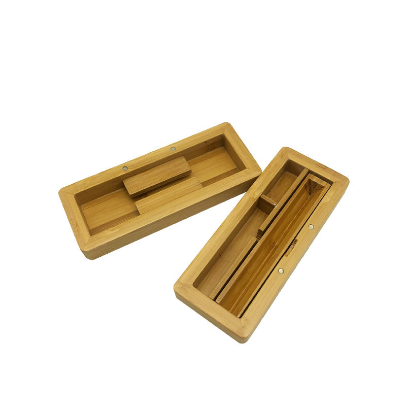 Custom weed grinding tray Container high quality bamboo tobacco Rolling Tray storage wood small box