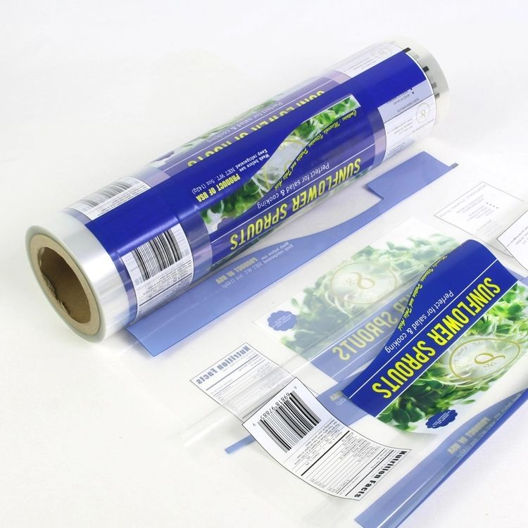 Laminated material pet/vmpet/pe shampoo packaging plastic roll film with custom logo design printing plastic packaging rolls