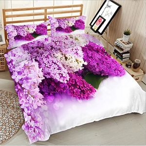 BABSON Purple hyacinth digital printing quilt cover printing bed sheet pillowcase Amazon personalized Bedding Set