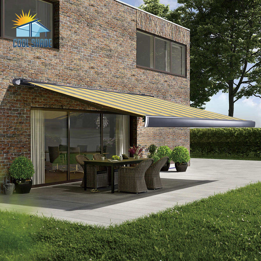 Patio Luxury Electric Garden Cassette Motorised Motorized Awning Retractable