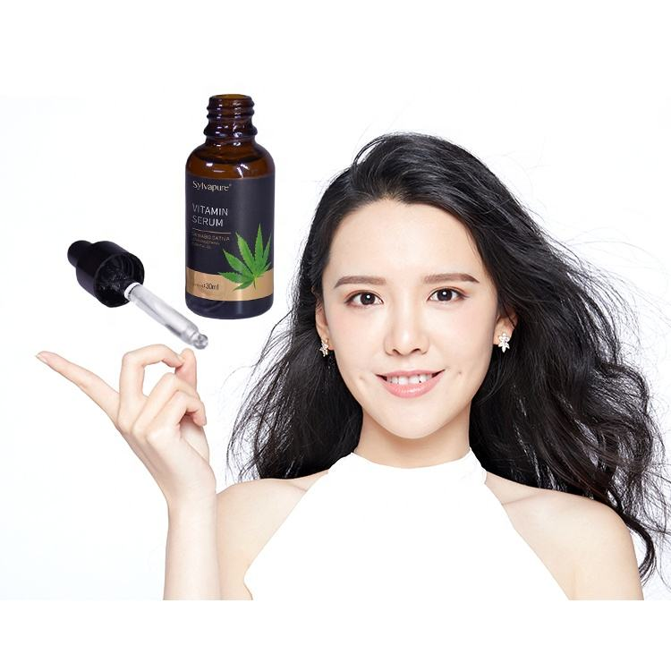 ODM OEM Hemp Whitening Brightening Acne Treatment Pure Natural Skincare Organic Serum Oil For Any Skin