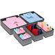 Hot Selling Non Woven Fabric Foldable Storage Drawer Underwear Organizer