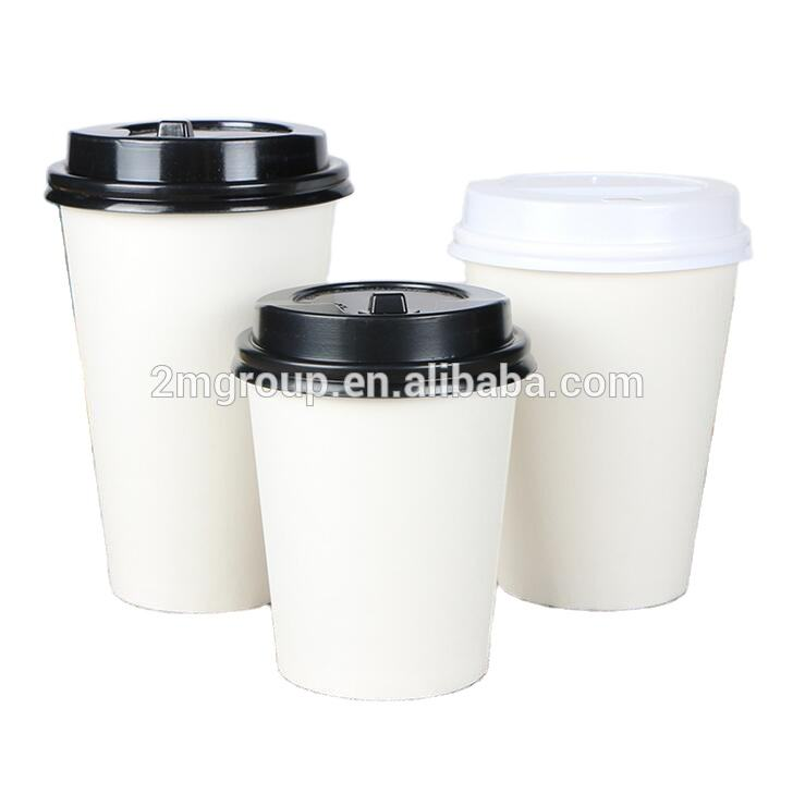 4/8/10/12/16/20/22 ounces White Paper Hot Cups