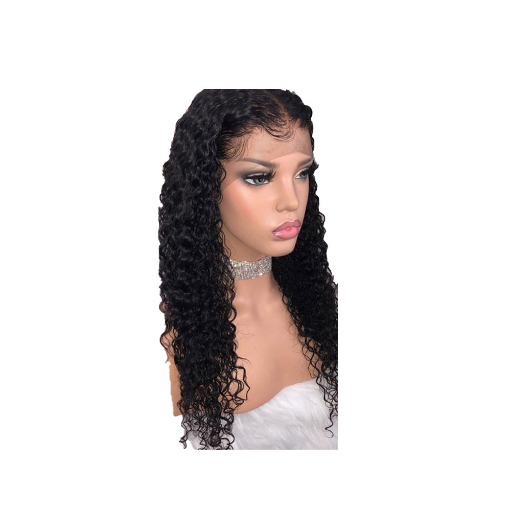 Curly Human Hair Closure Wig 180 Brazilian Pre Plucked Glueless Lace Wigs short hair wigs packaging clear bags 2toned