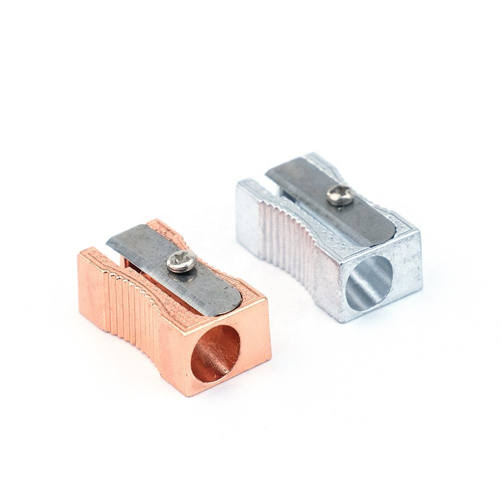Metal Pencil Sharpener [ Pencil Sharpener ] Pencil Sharpener 2020 Cheap Wholesale Metal Aluminum Pencil Sharpener Stationery For Kids Children