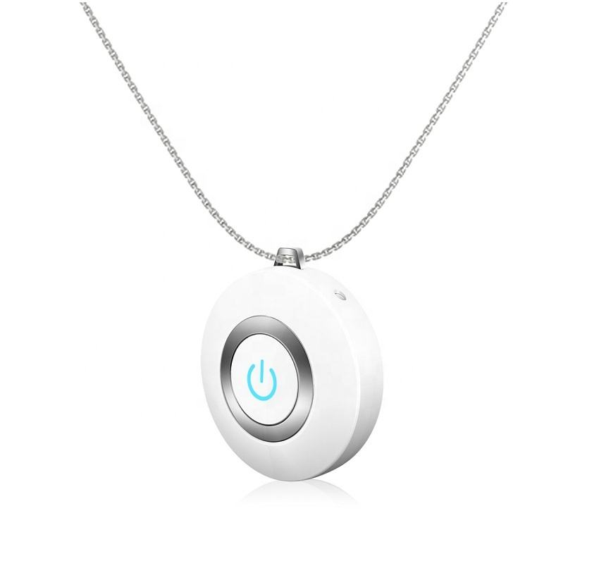Portable Mini UV Sterilization Necklace Air Purifier with Battery PST-CP029