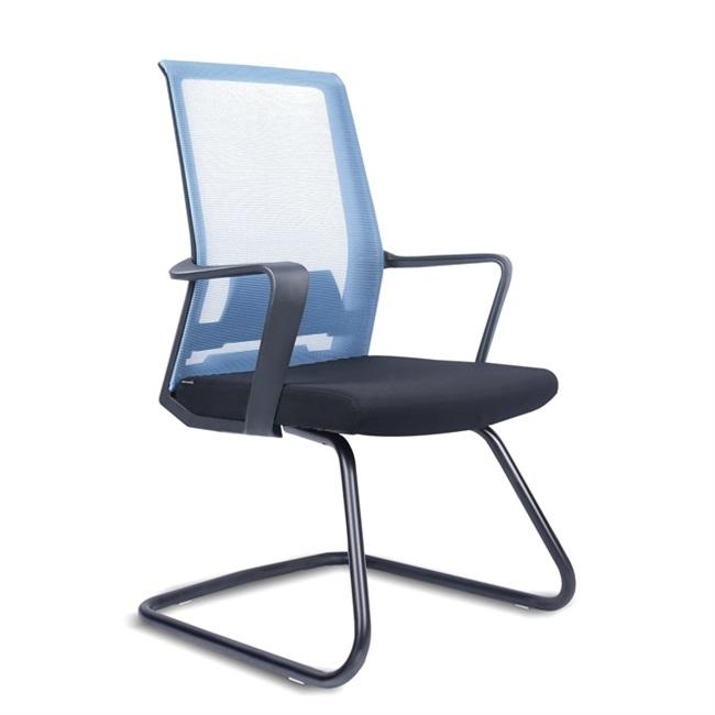 Mid Back Comfort Office Guest Visitor Cantilever Chair With Fixed Armrest