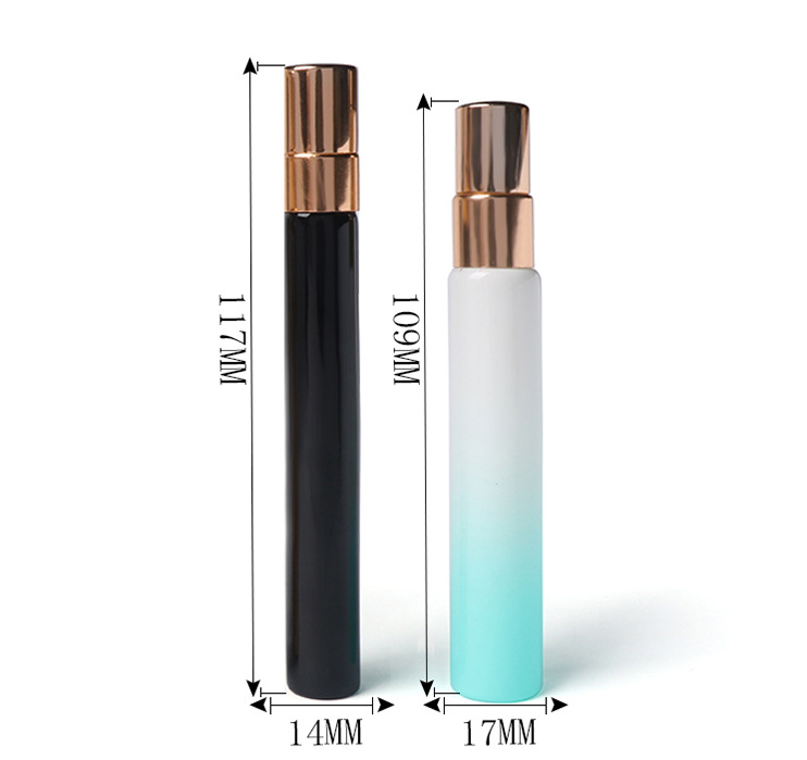 Draw bottle Electroplated color spray perfume bottle