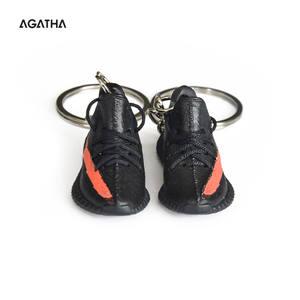 Dropshipping Cadeaux Personnalisés Handprinted Mini Yeezy Boost 350 V2 Chaussure 2d 3d Porte clés