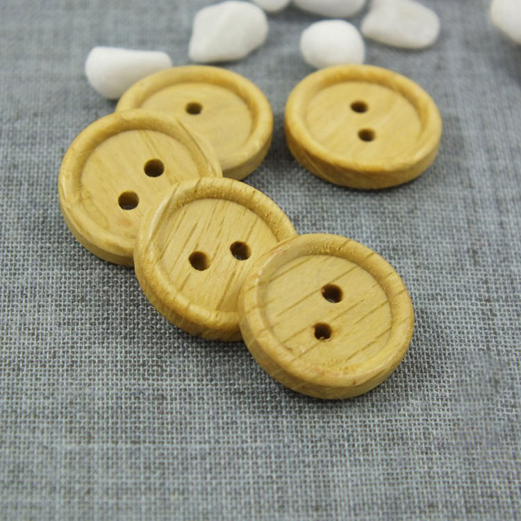 Holes子供15ミリメートルナチュラルボタンベビーScrapbooking Crafts DIY Clothing縫製Accessories Wooden Buttons
