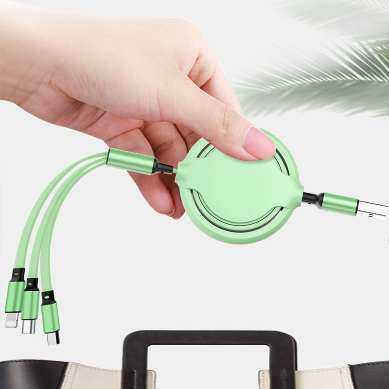 2020 New Product Hot 3 In 1 Usb Cable Micro Usb Fast Charging Nylon 2A ODM & OEM Manufactory Data line cable