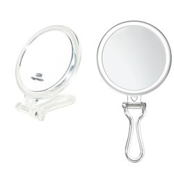 Double Sided Folding Handheld Mirror Travel Vanity 15x Makeup Mirror several sizes
