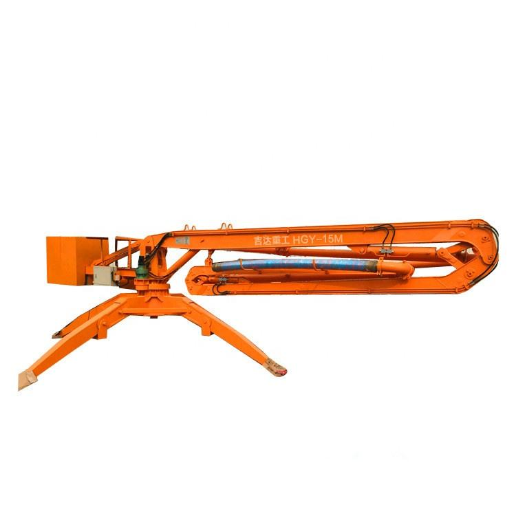Hot sale Save 20% labor and cost 15M mobile concrete placing boom/Concrete spreader/Concrete pouring machine