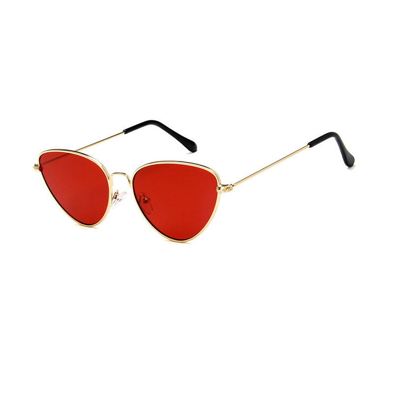 Cheap Fashion Metal Full Rim Cat Eye Black Frames Sunglasses for Women