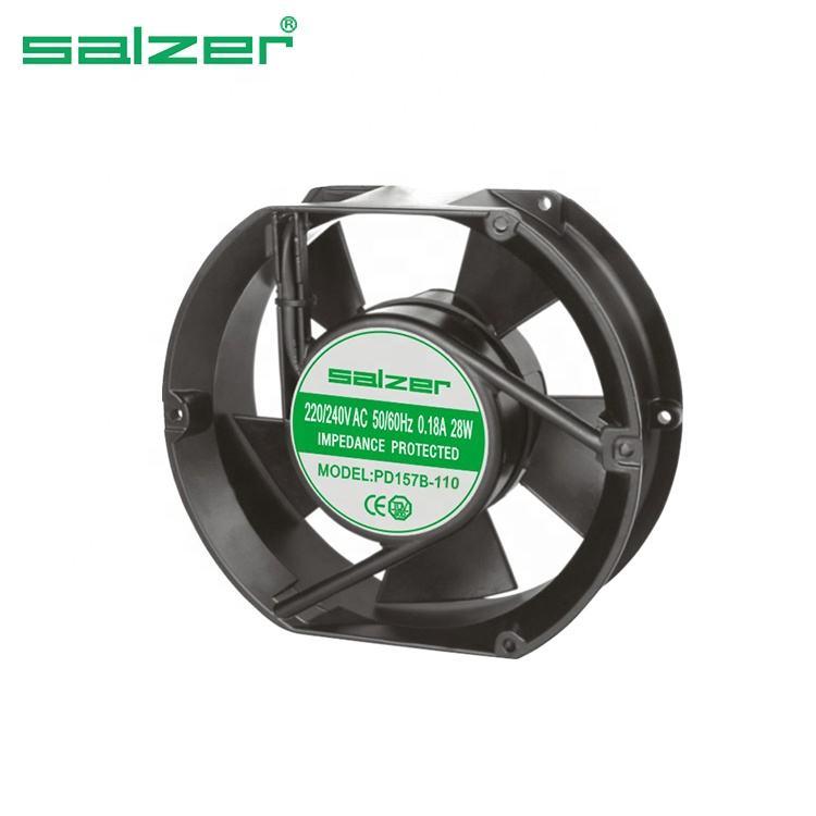 110mm AC110V eléctrico del ventilador de refrigeración del gabinete de escape 2 cables 11025 110*25mm