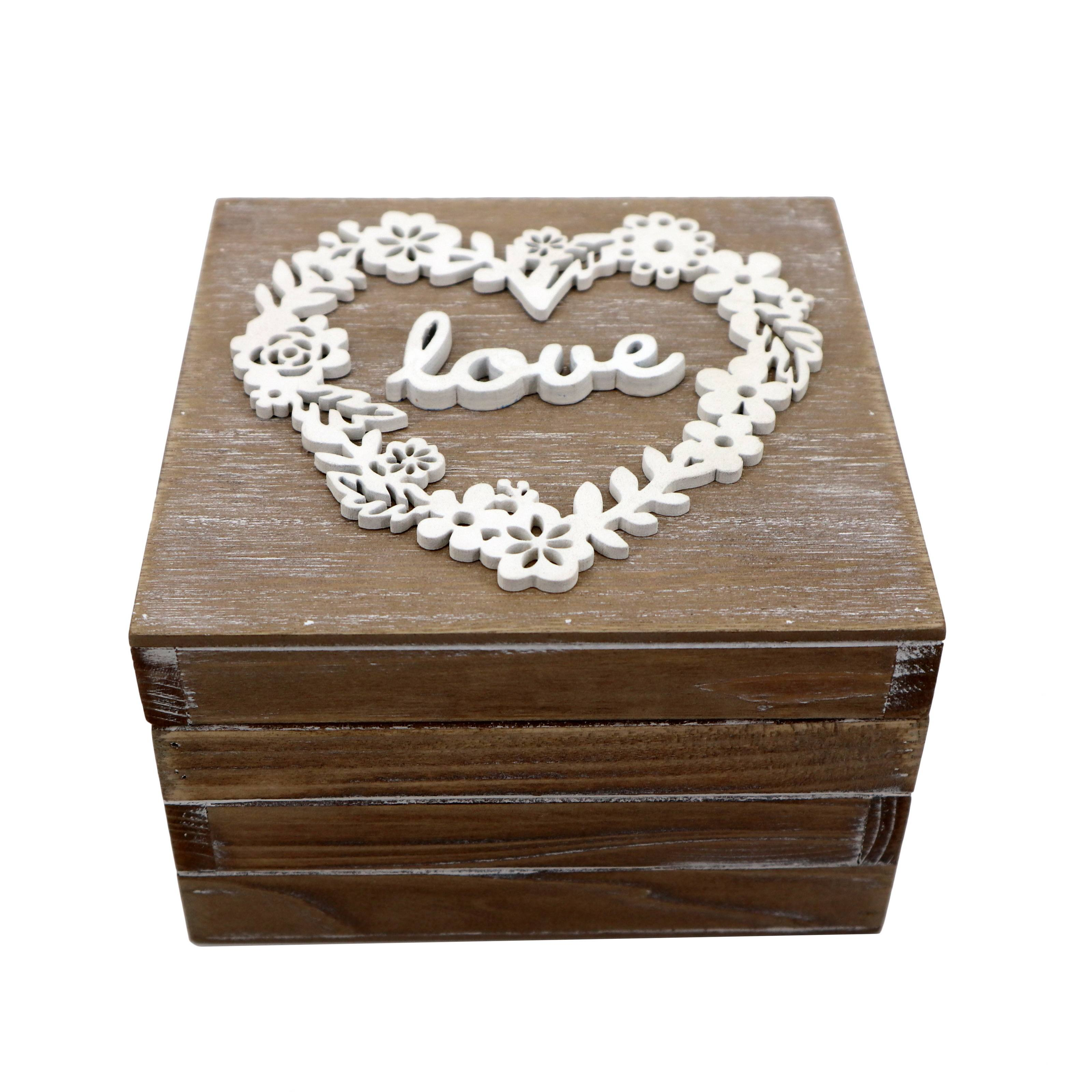 Hot sale wooden decorative home jewely natural storage box small wooden boxes