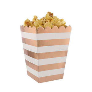 Custom Design disposable Cinema Entertainment Party used Paper Popcorn Box
