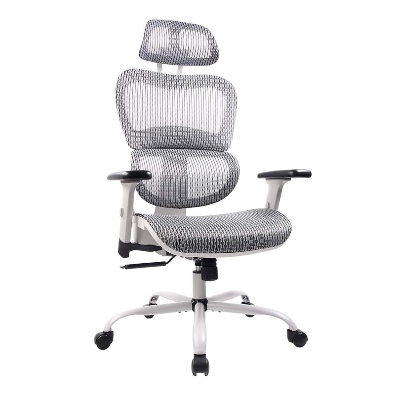USA STOCK popular full mesh office chairs high back ergonomic Adjustable Swivel office chair with headrest