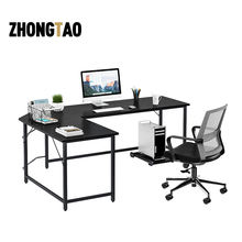Multifunctional corner l shaped expandable moon  modern office computer desk