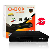 Q-BOX CONCORDE HD Digital satellite combo receiver/decoder/set top box DVB-T2/C/S2