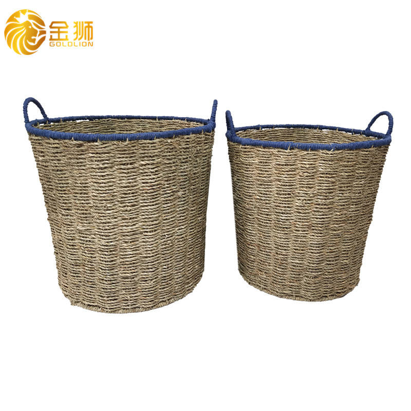 Best Selling Environmental Protection Storage Natural Seagrass Hanging Cheap Decorative Baskets