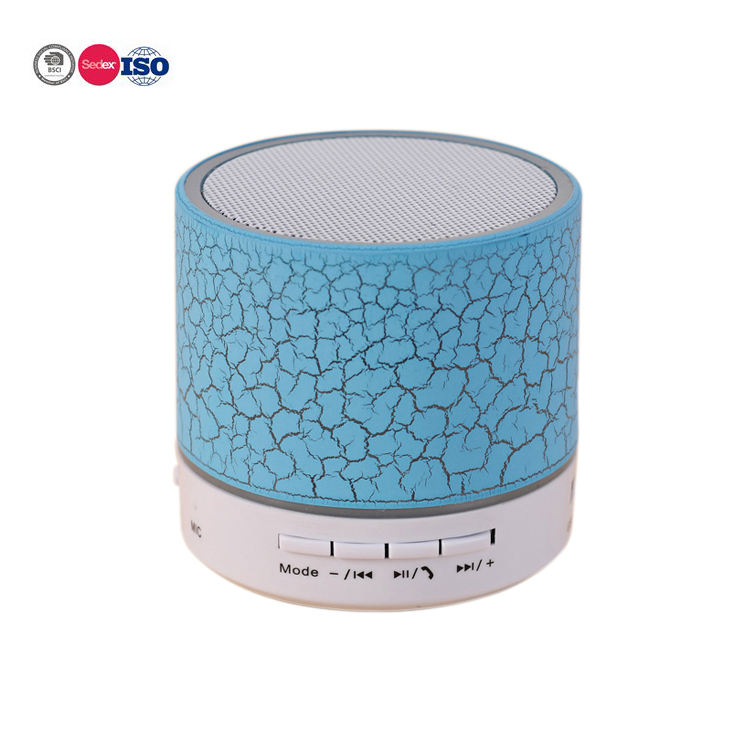Promotional Gift 5 Hours' Music Playing Mini Wireless Bluetooth Speaker With LED Light