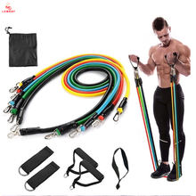 TPR TPE Latex Tubes Heavy Duty Workout Equipment Fitness Exercise Elastic Band Set