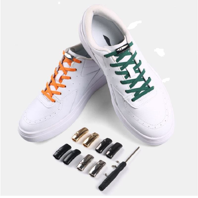 New Fashion Magnetic lock No tie Shoelaces Elastic Shoe Laces For Kids and Adult Sneakers Shoelace Quick easy lock Shoelaces