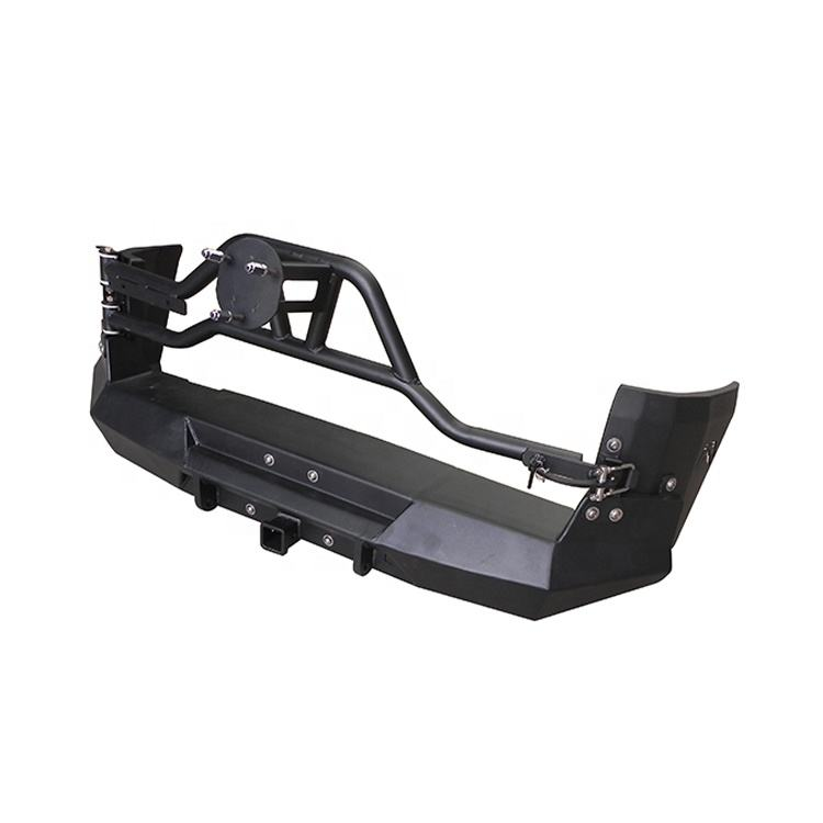 Wholesale China 4x4 Offroad Steel Rear Bumper for Toyota FJ Cruiser with Tire Carrier Smooth Finish Black Color Rear Car Bumper