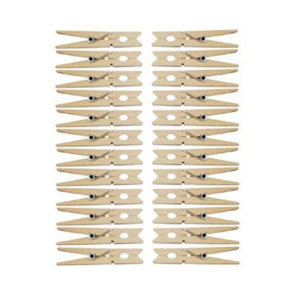 Multifunctional Sturdy Heavy-Duty Natural Bamboo Clothespins